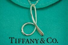 "Tiffany & co. 92.5% Silver Alphabet Letter ""D"" Pendant Necklace by Elsa Peretti"
