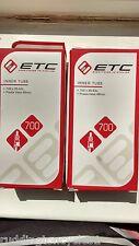 2 x ETC Quality inner tubes bike cycle 700 x 35 / 40c presta 48mm Long valve