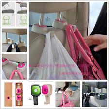 2 Pink Car Seat Headrest Hanger Holder For Bag Purse Cloth Grocery For Chrysler
