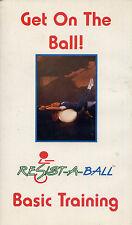 gin miller GET ON THE BALL  resist a ball basic training   VHS VIDEOTAPE