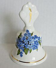 Vtg Peter Gosling Forget-Me-Not Bell English England Porcelain China Blue Flower