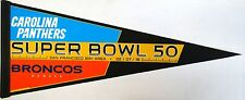 "Carolina Pathers vs Denver Broncos Superbowl 50 Collectors Pennant 12"" x 30"""