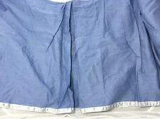 Laura Ashley Home Bedskirt Twin Blue with Silver Ribbon Trim