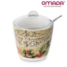 Zuccheriera con Decorazione Natalizia, Porta Zucchero Natale, 200gr Omada Design