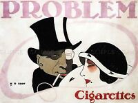 COMMERCIAL ADVERT PROBLEM CIGARETTES GERMANY POSTER ART PRINT PICTURE BB1997A