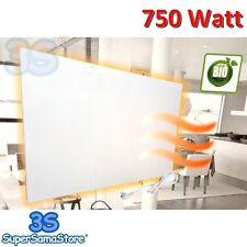 3S CALORIFERO PIASTRA RADIANTE BIANCA RAGGI INFRAROSSI 750 Watt ELETTRICO NUOVO