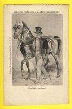 cpa FRANCE Dessin Estampe Ancien COSTUME NORMAND Marchand de Chevaux MAQUIGNON
