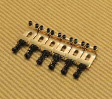 BS-SI-G (6) Gold Stamped Steel Narrow Saddles for Modern/Import Fender Strat®