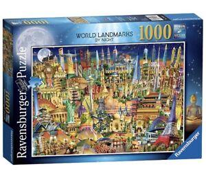 Ravensburger 19843 - World Landmarks at Night 1000 Piece Jigsaw Puzzle Game