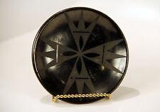 "San Idelfonso Blackware Plate by Marie + Santana 5 1/2"" diameter"