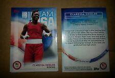 2016 Topps Olympics base card #2 Claressa Shields, boxing