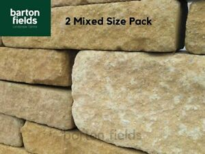 Garden Walling Stone, Tumbled Finish in 2 Sizes, 5.2m2 Project Pack, Cotswold