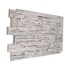 #135 Solid Color Stacked Stone Wall Panel made in USA Faux Stone Polyurethane