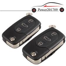 2 Stück Schlüsselgehäuse für AUDI A1 A3 A4 A6 A8 TT Q7 3 Tasten Klappschlüssel