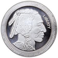1 Troy oz. .999 Fine Silver American Indian Buffalo Stacker Round SKU45164