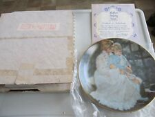 "1984 The Hamilton Collection ""Mother'S Helping Hand"" Plate Coa Original Box"