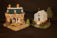 Lot 2 Liberty Falls Rosie's Flower Shop & Rosie's Greenhouse Miniatures 1999