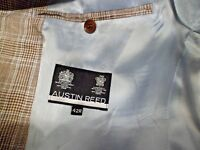 ******AUSTIN REED 100% Linen Check Jacket 42R WORN ONCE******