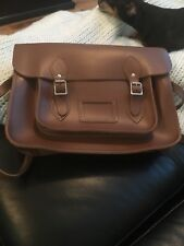 "Cambridge Satchel Company brown Classic Satchel 11"" size"
