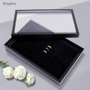 Schmucklade Ringbox für 100 Ringe Ohrringlade Display Lade Schmuck Schatulle