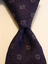 JOHN VARVATOS USA Mens 100% Silk Necktie Luxury Designer Geometric Blue NWT
