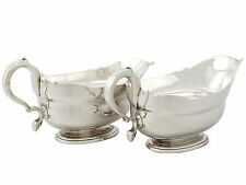 Georgian Newcastle Sterling Silver Sauceboats by Isaac Cookson, 1730s
