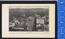 SAN FRANCISCO, Union Ferry Clock Tower & Waters of Strait - 1925 Page of History