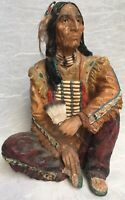 Vintage -Collectible Sitting Indian Native American