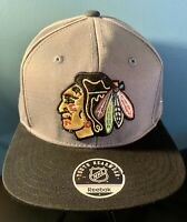 NHL Chicago Blackhawks Gray & Black Reebok Snapback Youth Hat Cap NHL