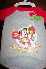 NWT Disney Christmas Dog Apparel Mickey Mouse T Shirt Large