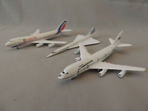 3 Airplanes Boeing 747 SAS &LanChile & Schabak 920 made in Germany