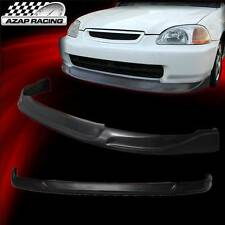 96-98 JDM Concept Style Black Urethane Front Bumper Lip Spoiler For Honda Civic