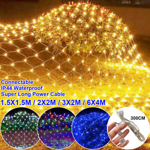 Christmas LED Net String Lights 3x2M/ 6x4M Mesh Light Party Outdoor Party Decor