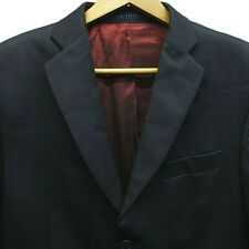 Ted Baker London Navy Windowpane Wool 2 Button Suit Jacket Sport Coat Size 40S