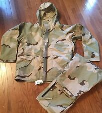 NWT Army Desert Camo Cold Weather Trousers & Parka Gore-tex, Large Reg #x3