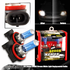H11 Xenon Super White 5000K 100W High/Low/Fog Light Halogen Bulbs Universal 4