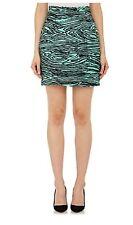 NWT $850 Proenza Schouler Burnout Velvet Faille Miniskirt Sz 0