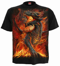 Spiral Direct DRACONIS Mens, Dragon/Biker/Rock/Tattoo/Fire, T-Shirt, Clothing