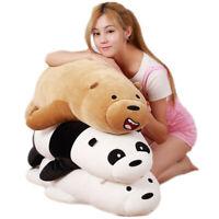 20'' We Bare Bear Panda Plush Doll Animal Grizzly Ice Bear Lying Doll Toy Pillow