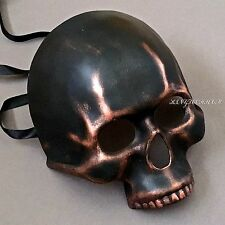 Halloween Black Copper Skull Face Costume Masquerade Mask
