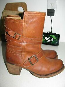 Womens Vintage Frye VERA Strappy Engineer Boots stk# 76520 sz 7 EUC!!