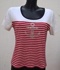 T-shirt rayé type marin avec motif ancre UN JOUR AILLEURS Taille 2