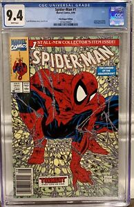 Spider-Man #1, UPC Newsstand Poly-Bagged McFarlane Edition - CGC Graded (Marvel)