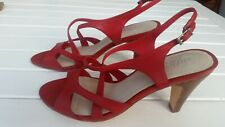 Airflex Ladies Red Leather High Heels Shoes Size 40 or 9 Excellent Condition