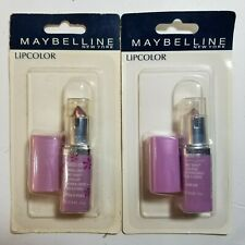 Maybelline Wet Shine Lip Color Stick champagne punch lilac lick New Old Stock