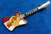DALLAS TEXAS CLASSIC RED & WHITE REVERSE FIREBIRD HRC GUITAR Hard Rock Cafe