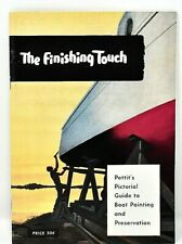 RARE 1954 THE FINISHING TOUCH PETTIT PAINT CO BOAT PAINT RESTORATION & CATALOG