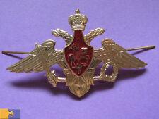 Russian Army Uniform Metal Double-Headed Eagle Military Cap Pin Badge Cockade