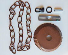 Ceiling Plate Canopy Kit w/ 3' of Chain in Rustic Tin for Hanging Chandelier