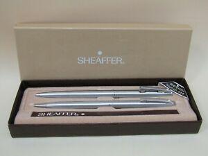 Sheaffer Triumph 444 Silver Tone Mechanical Pencil & Ballpoint Pen Set
